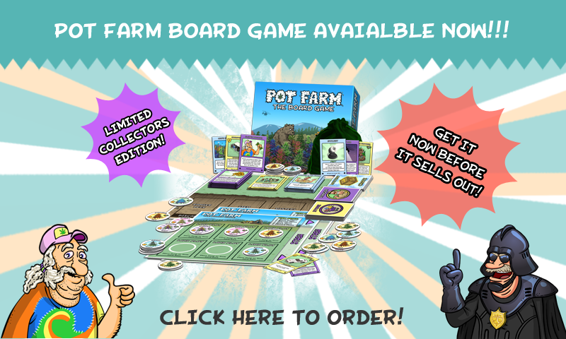 Pot Farm Board Game Available on Amazon