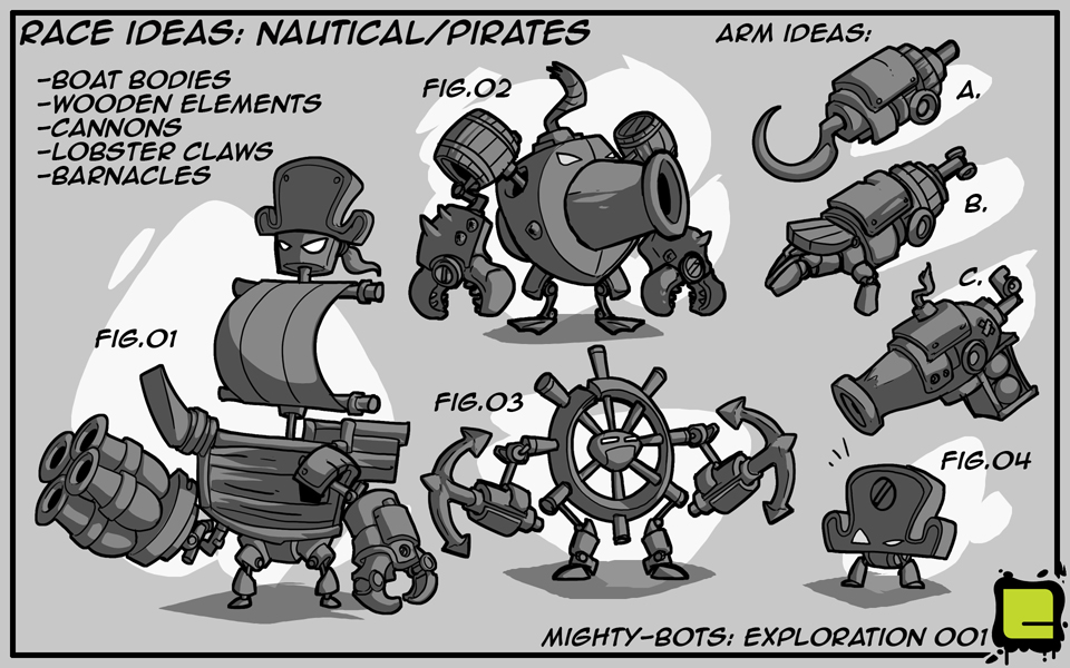 Mighty Bots: Race Ideas - Nautical/Pirates