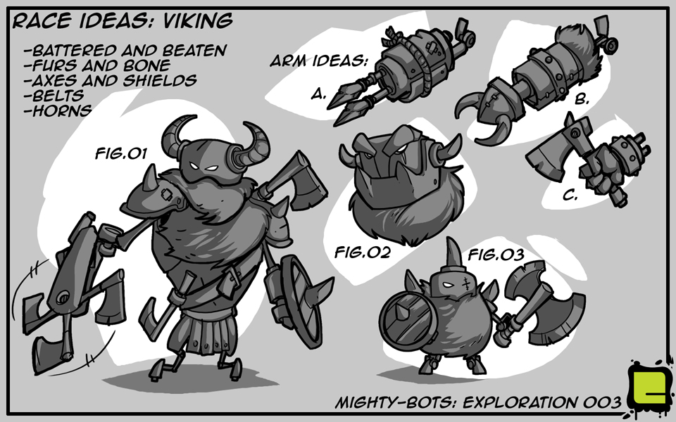 Mighty Bots: Race Ideas - Viking