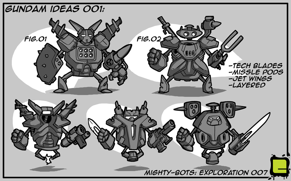 Mighty Bots: Gundam Ideas