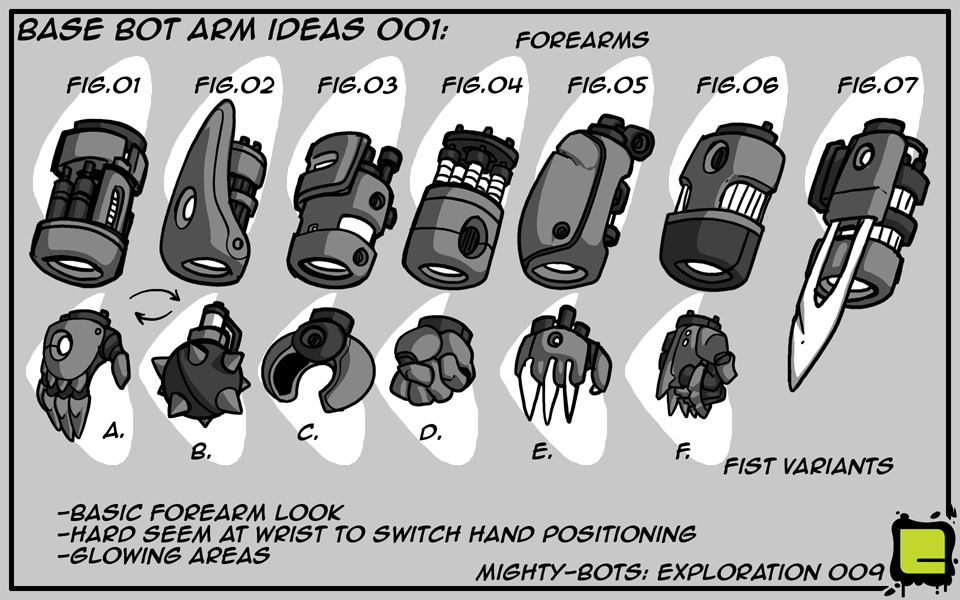 Mighty Bots: Base Bot Arm Ideas